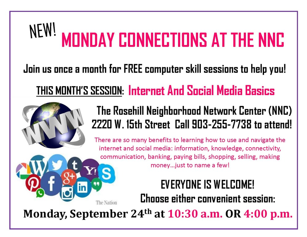 NNC Monday Connections Flyer September 2018