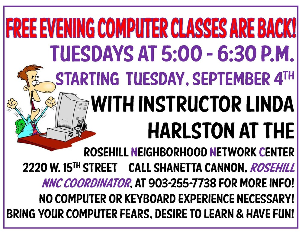 Free Evening Computer Classes Are Back