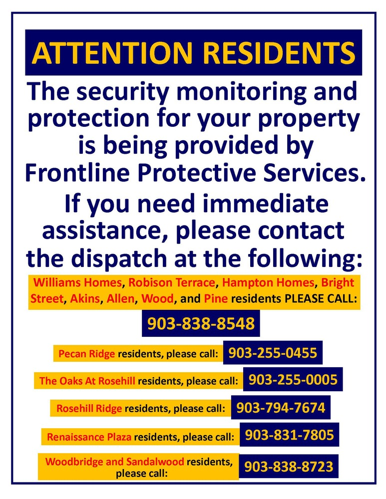 Security Dispatch Flyer - Frontline Protective Services