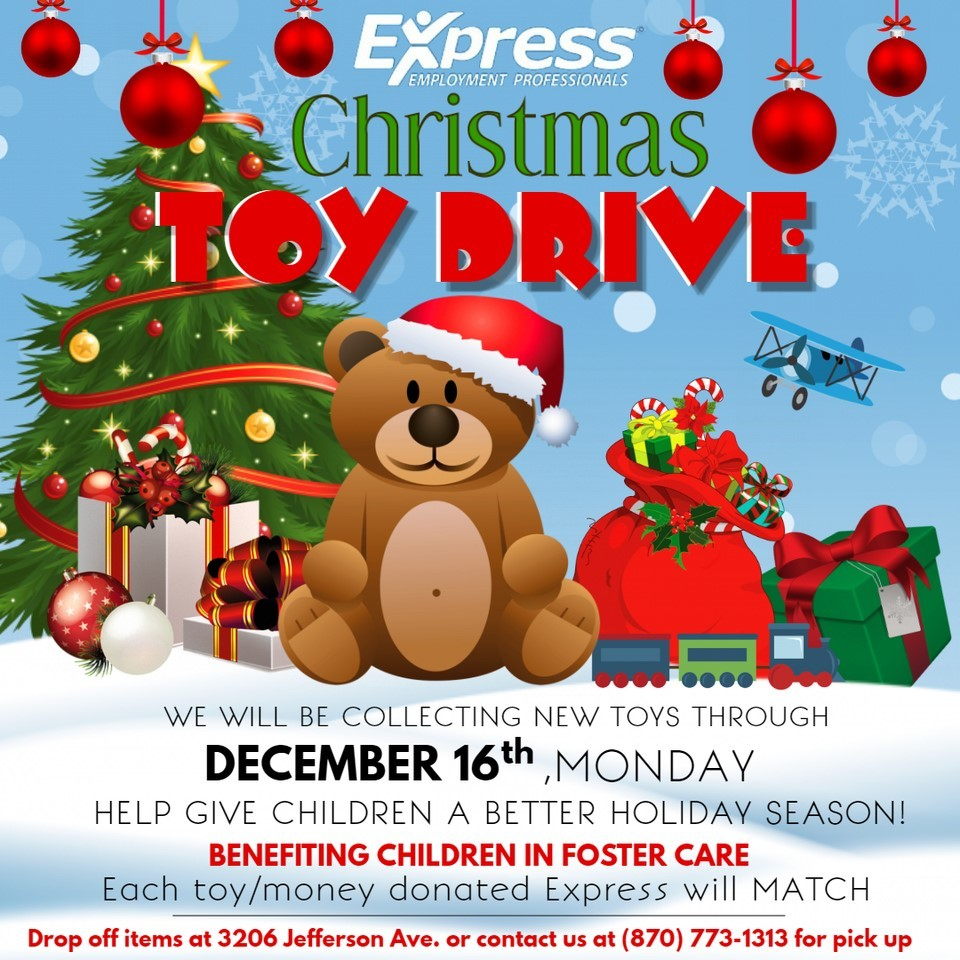 Express Employment Professionals Toy Drive flyer